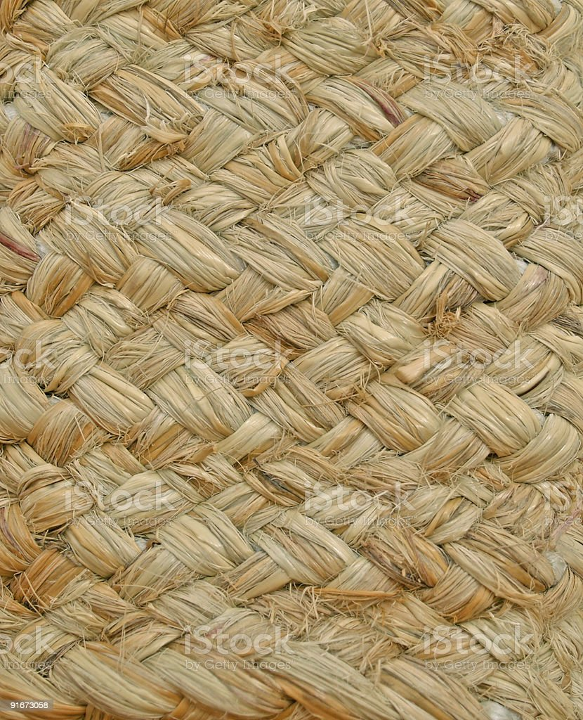 Texture of a basket woven from grass cord royalty-free stock photo