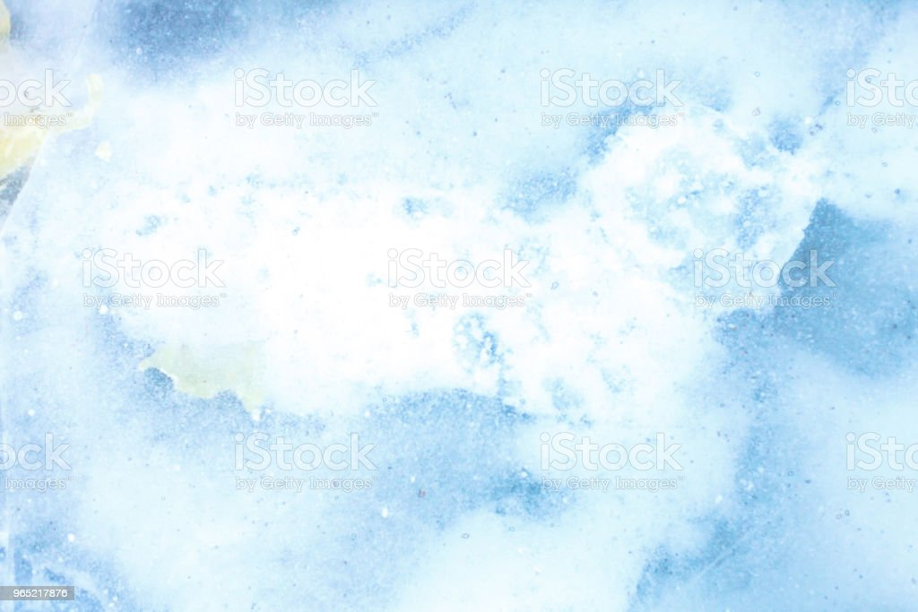 texture of a beautiful blue ice with cracks royalty-free stock photo