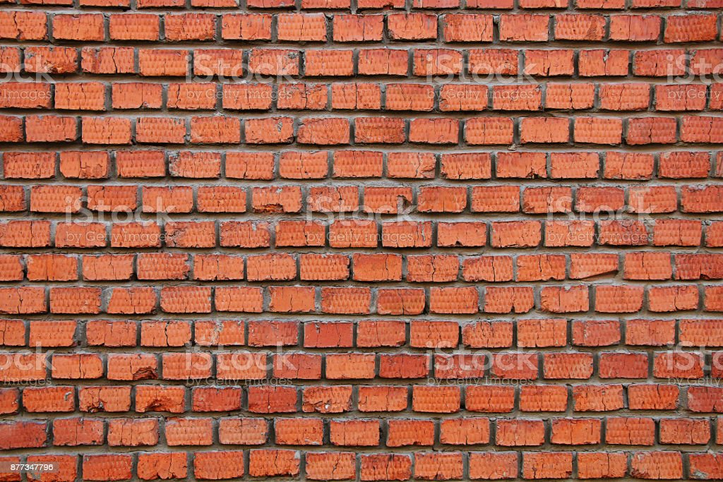 Texture of a brick wall stock photo