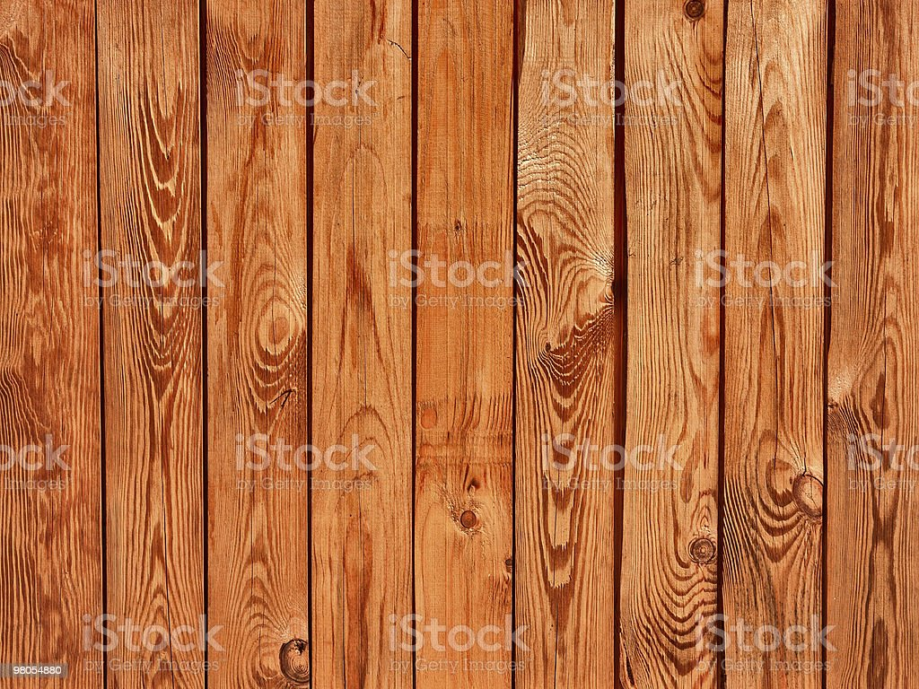 Texture of a brown wooden fence royalty-free stock photo
