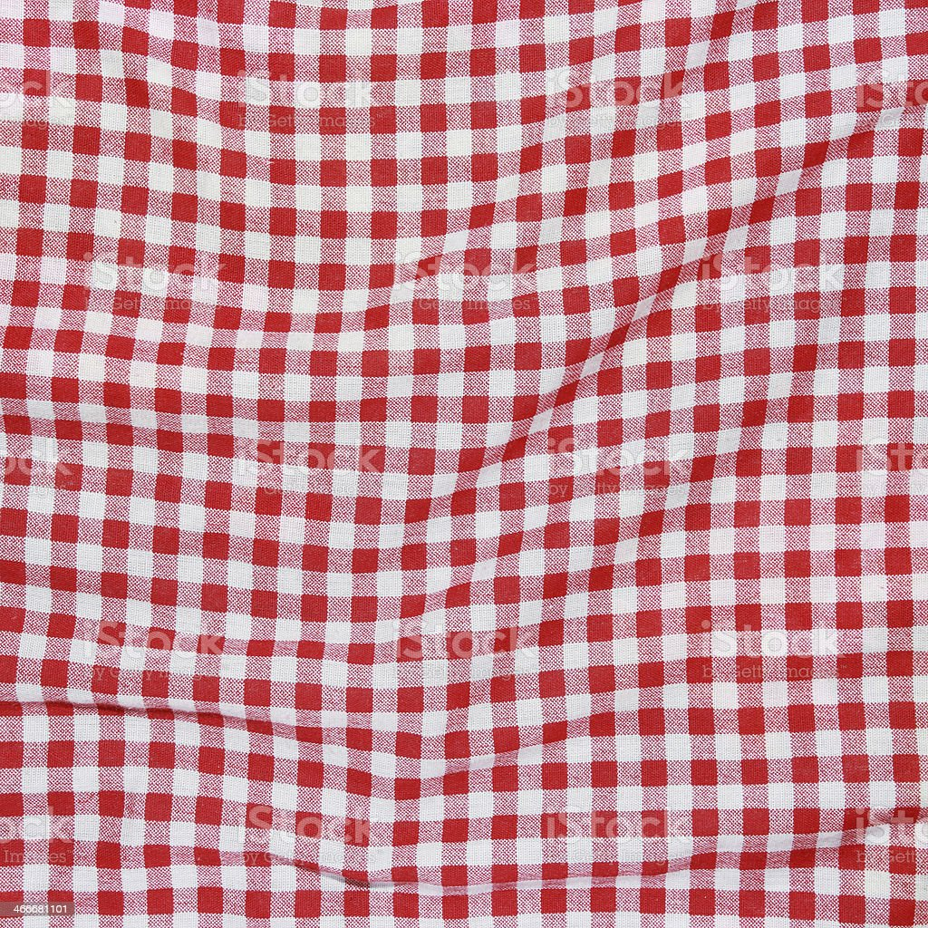 Texture Of A Red And White Checkered Picnic Blanket Stock Photo