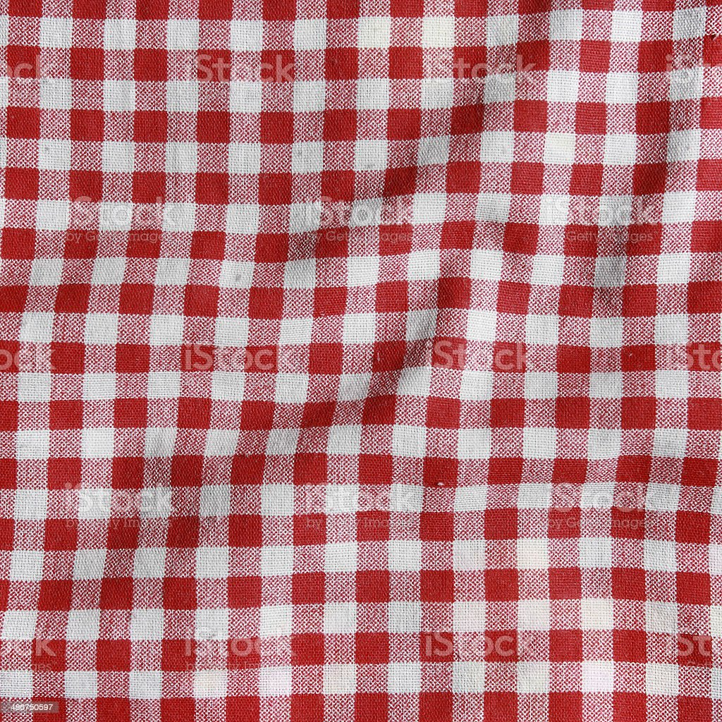 98472031c60 Texture of a red and white checkered picnic blanket. - Stock image .