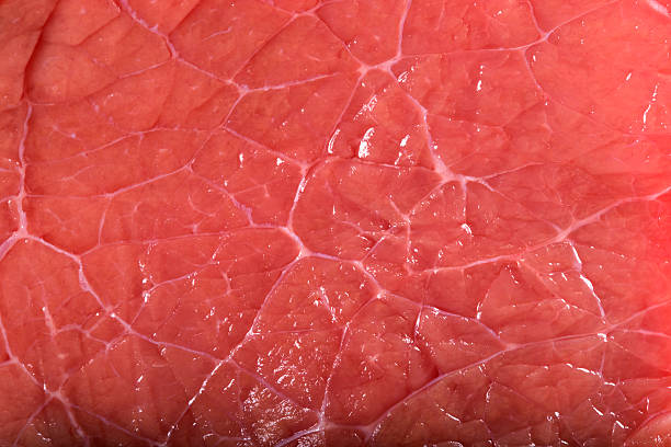 Texture of a red meat stock photo
