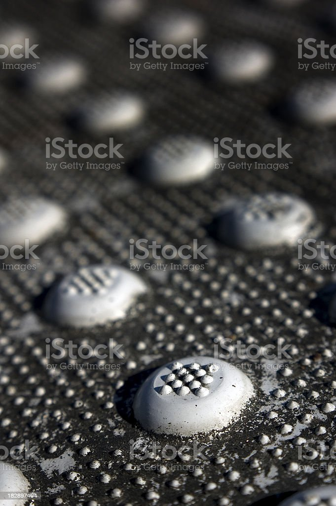 Texture of a sidewalk slope stock photo