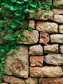 Texture of a stone brick wall. Natural textures.