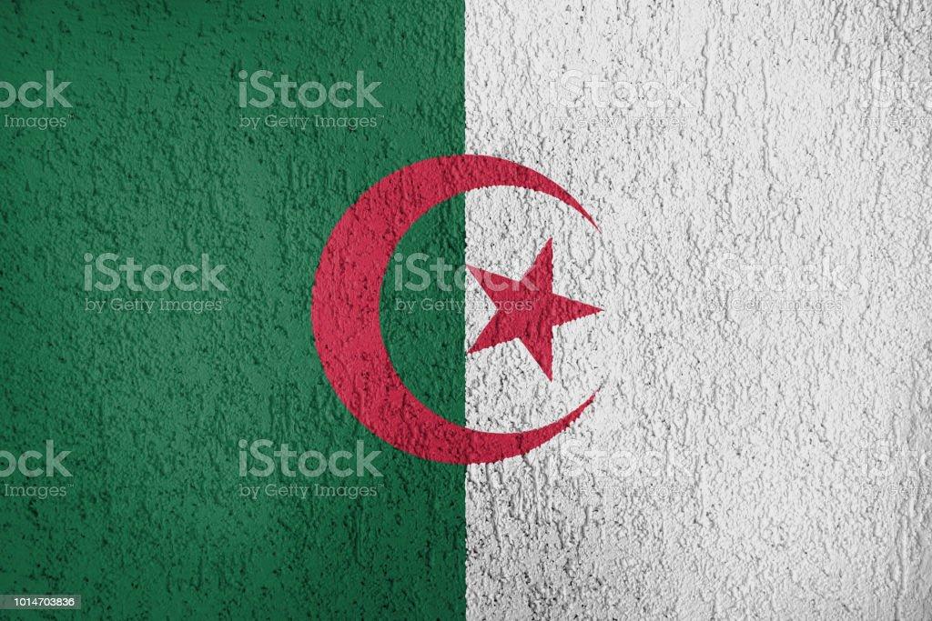 Textura de la bandera de República Democrática del pueblo argelino - foto de stock