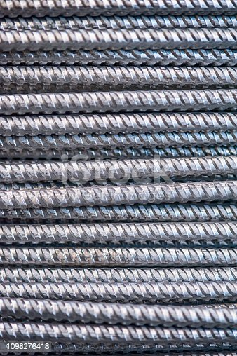 istock Texture of aluminum wire for armor rod cable. Abstract background 1098276418