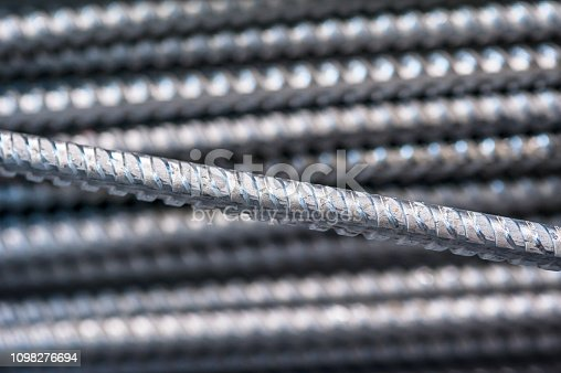 istock Texture of aluminum wire for armor rod cable. Abstract background 1098276694