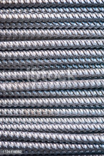 istock Texture of aluminum wire for armor rod cable. Abstract background 1124418562