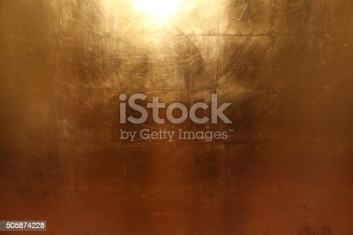 istock Texture of an gold metall plates 505874228