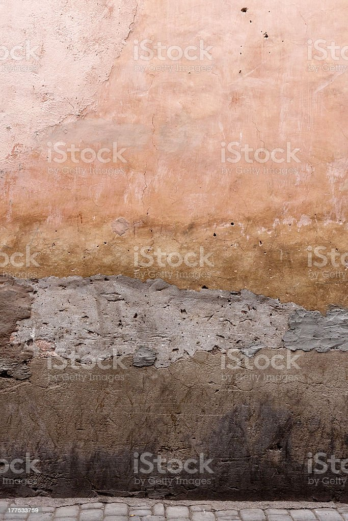 Texture of an old wall in the Souk. stock photo