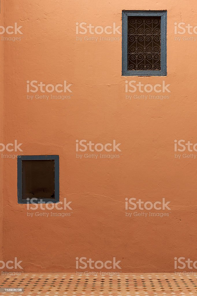Texture of an wall at the Souk in Marrakech, Morocco. stock photo