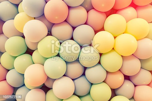 945748362 istock photo Texture of balloons as wall background 1022577726