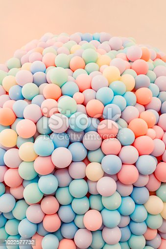 945748362 istock photo Texture of balloons as wall background 1022577732
