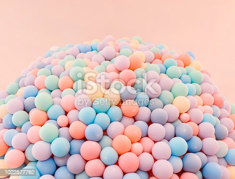 945748362 istock photo Texture of balloons as wall background 1022577762