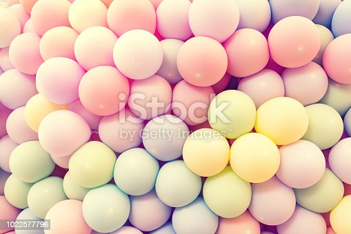 945748362 istock photo Texture of balloons as wall background 1022577796