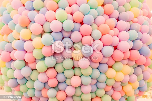 945748362 istock photo Texture of balloons as wall background 1022577880