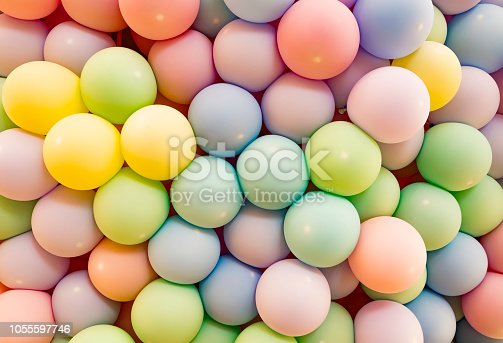 945748362 istock photo Texture of balloons as wall background 1055597746