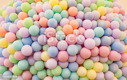 945748362 istock photo Texture of balloons as wall background 1055597928