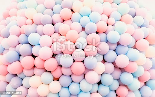 945748362 istock photo Texture of balloons as wall background 1253150489