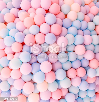 945748362 istock photo Texture of balloons as wall background 1253150510