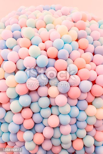 945748362 istock photo Texture of balloons as wall background 1253150517