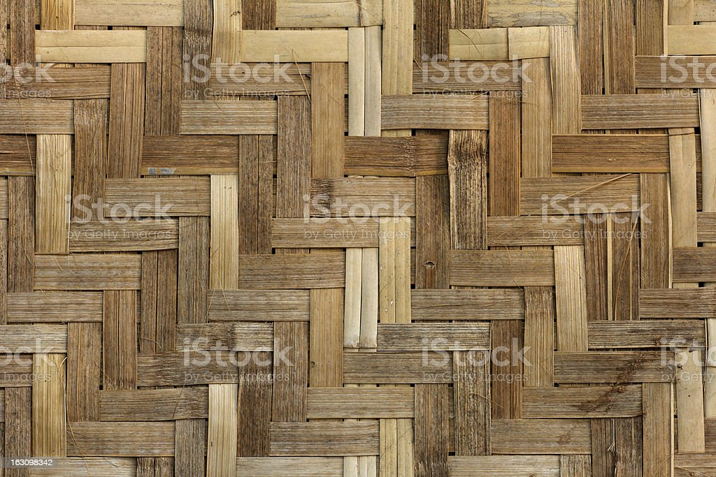 Texture of bambo Weave royalty-free stock photo