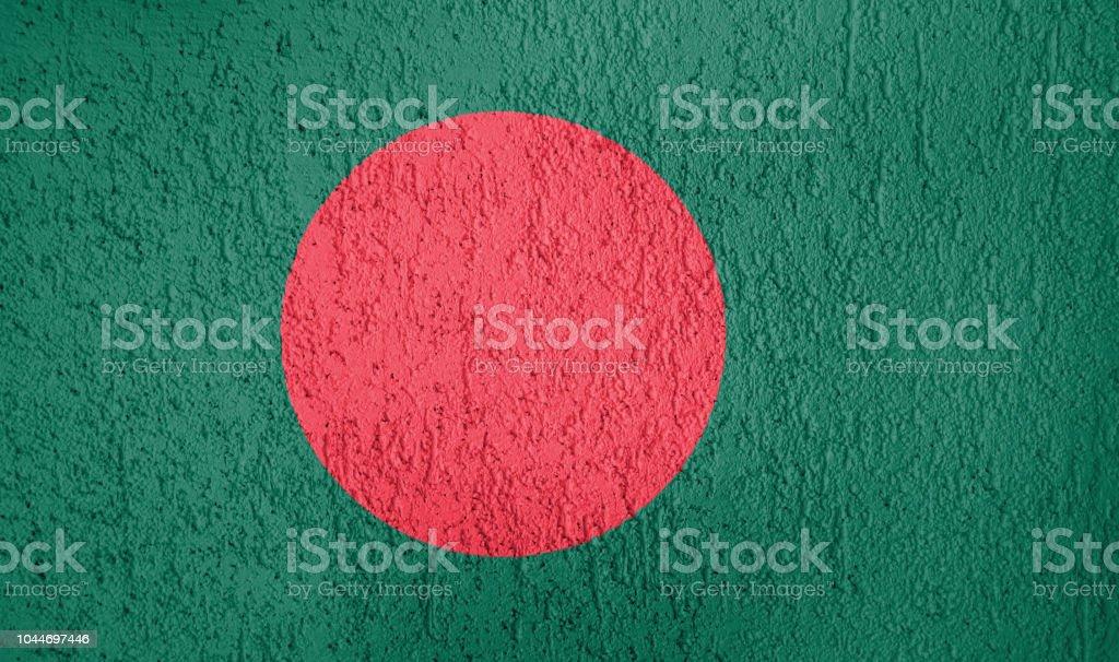 Texture of Bangladesh flag stock photo