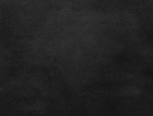 Texture of black blank chalkboard. Old school chalkboard scratched. blackboard visual aid stock pictures, royalty-free photos & images