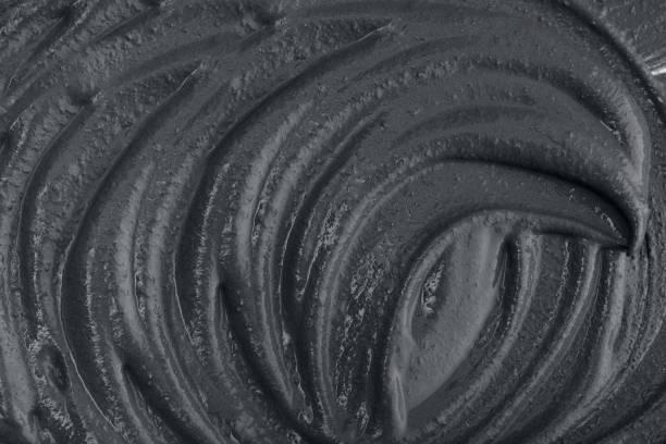 Textur der schwarzen Gesichtsmaske – Foto