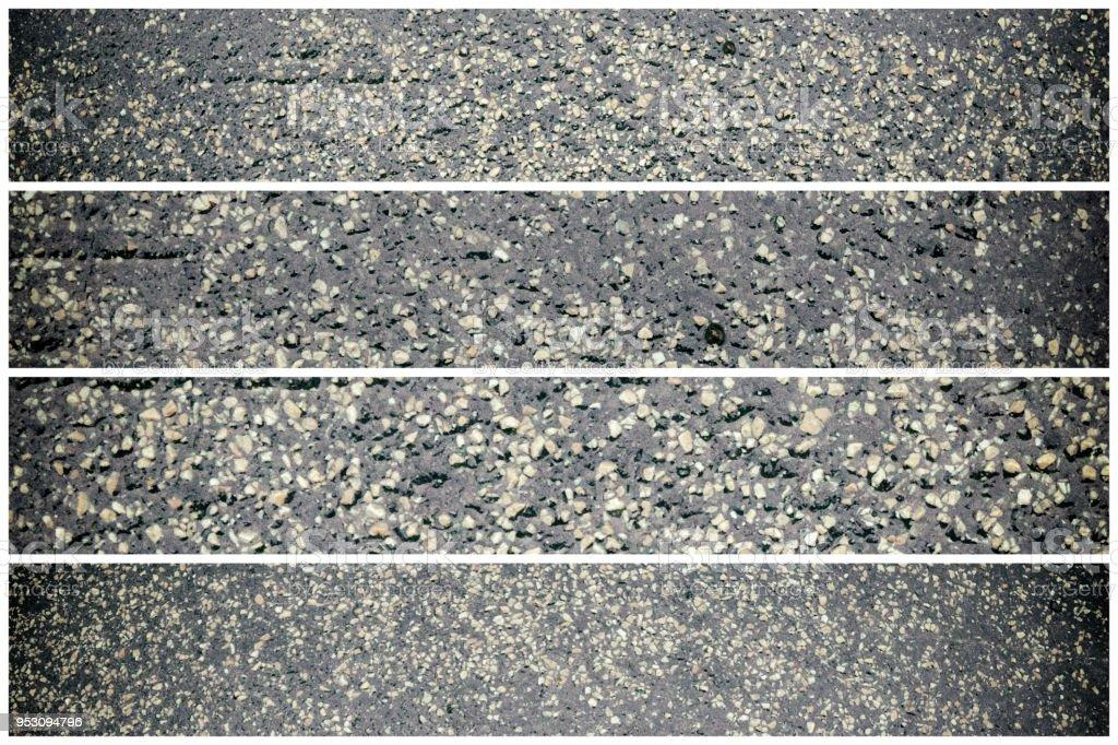 Texture of black rubber floor on playground. .