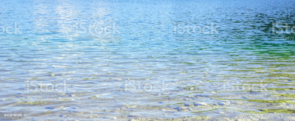 Texture of blue mountian lake water stock photo