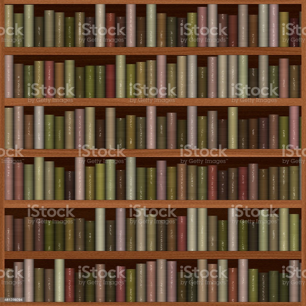 Texture Of Bookshelf Royalty Free Stock Photo