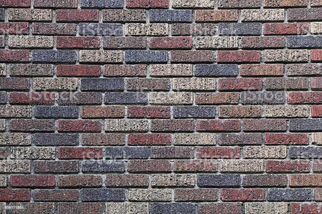 Texture of bricks of different colors stock photo