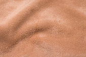 Texture of brown alpaca wool close up