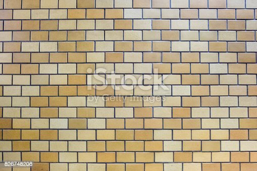 istock texture of brown bricks tiles on the wall 826748208