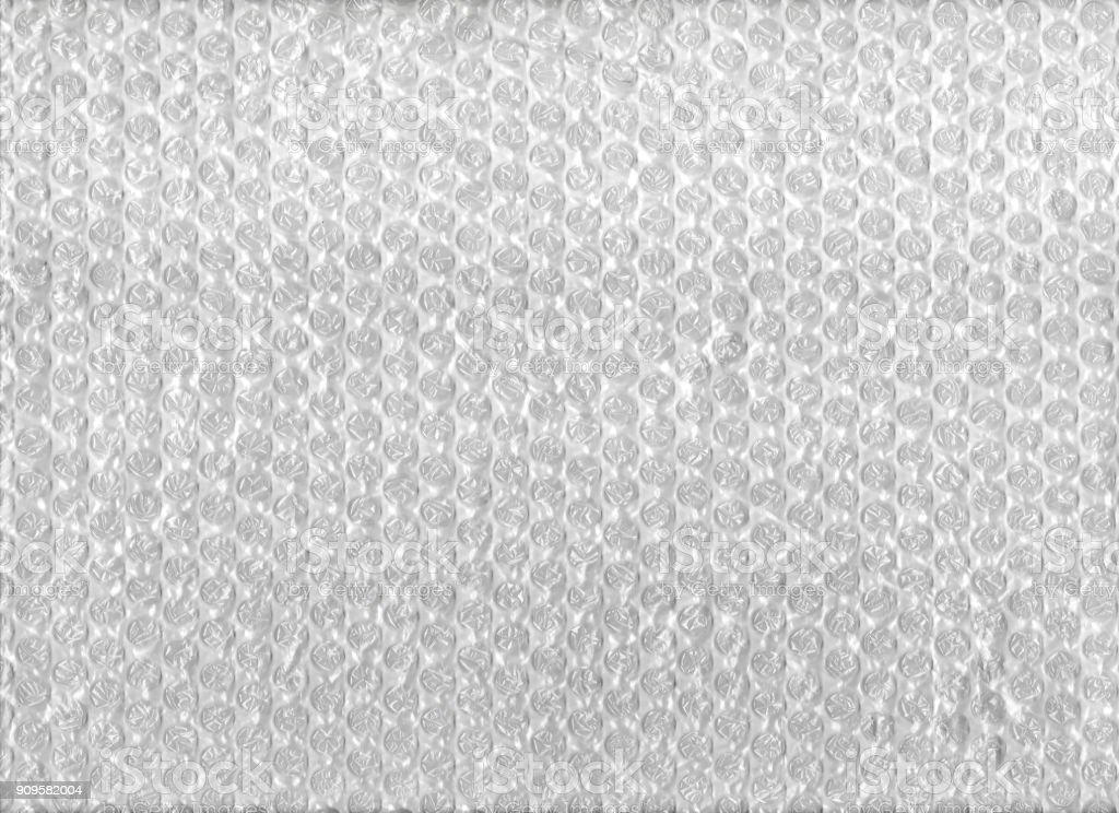 Texture of bubble wrap plastic sheet stock photo
