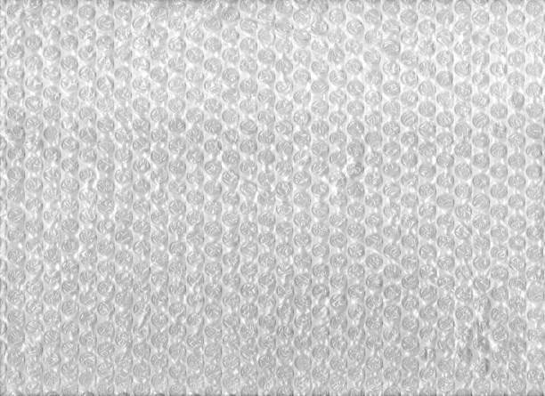 Texture of bubble wrap plastic sheet stock photo