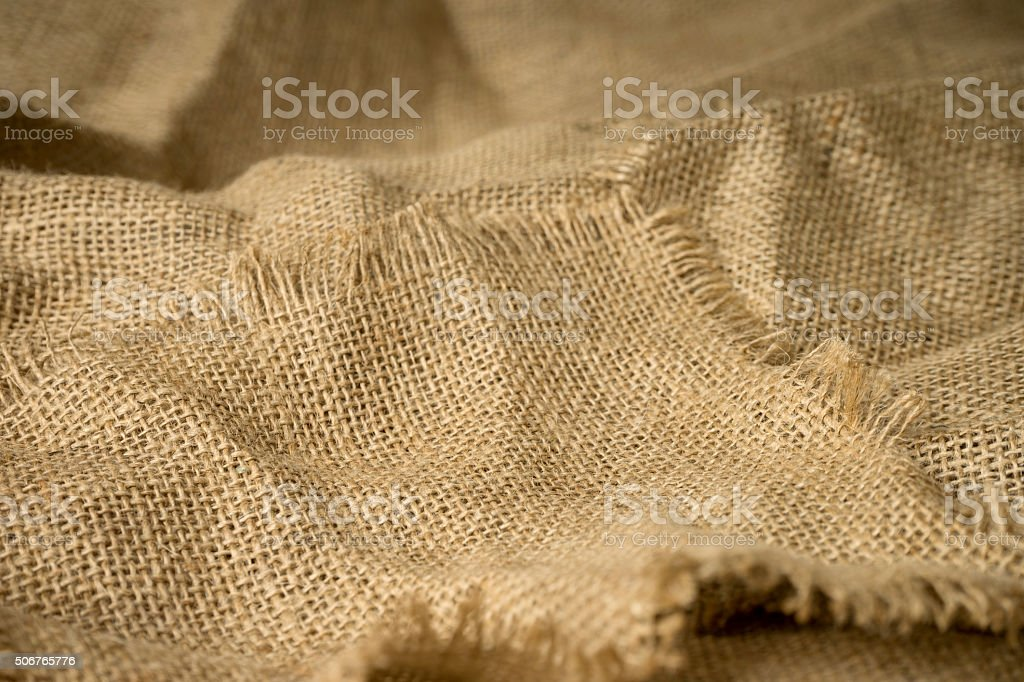 texture of burlap material background hessian stock photo