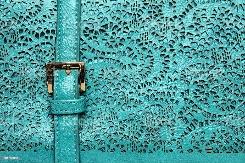 texture of carved leather, turquoise texture stock photo
