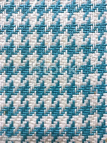Blue and white knitting fabric texture or background