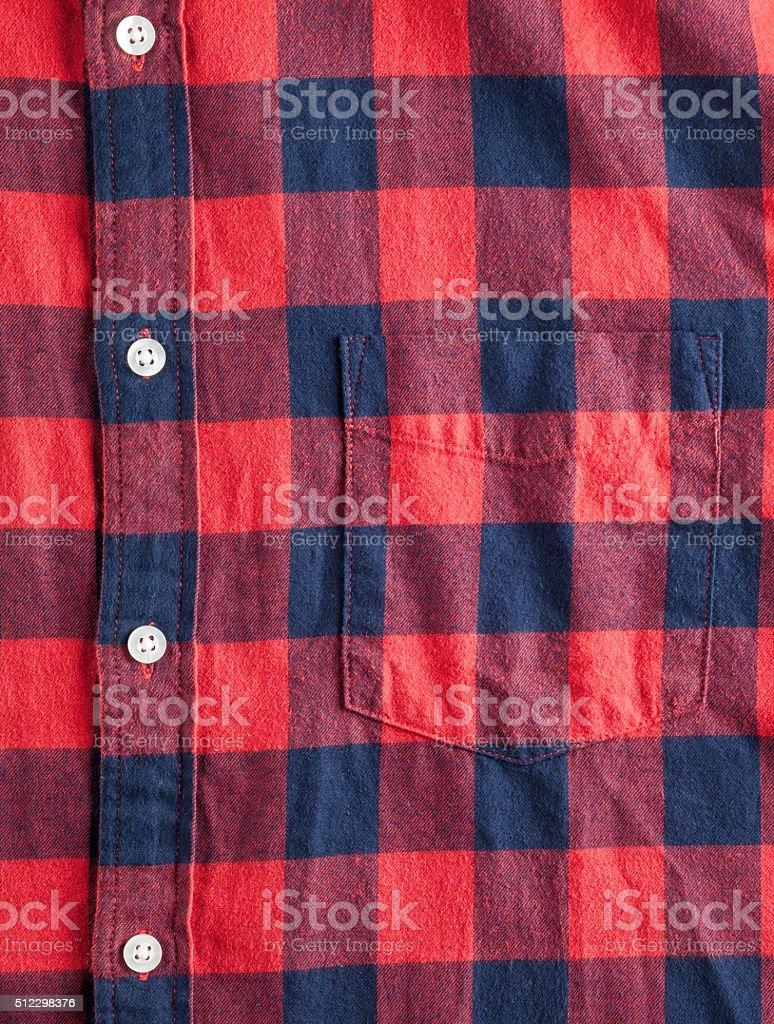 Textura de camisa franela ajedrezada - foto de stock