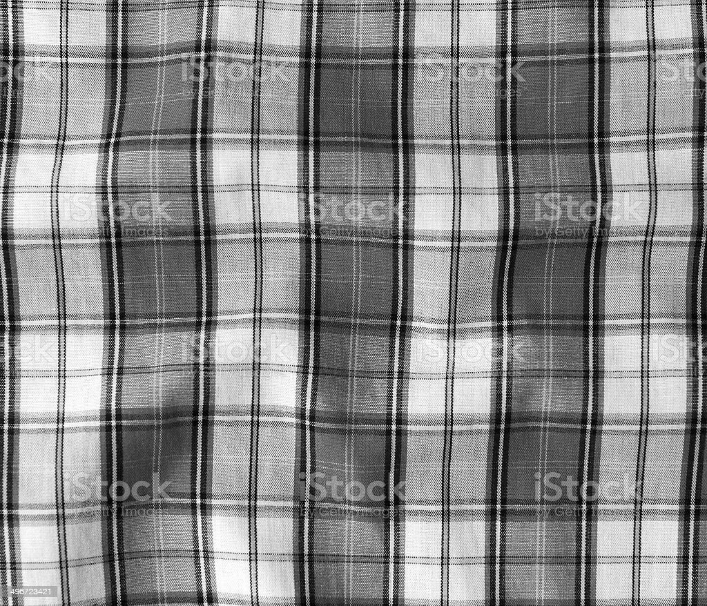 Texture of checkered picnic blanket. stock photo