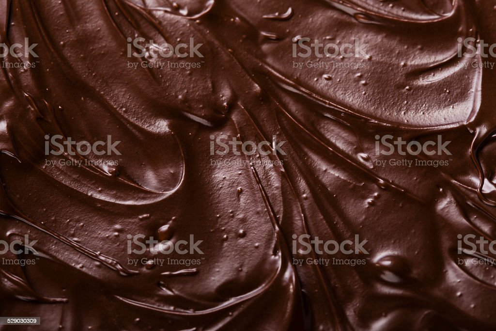 texture of chocolate icing close-up stock photo