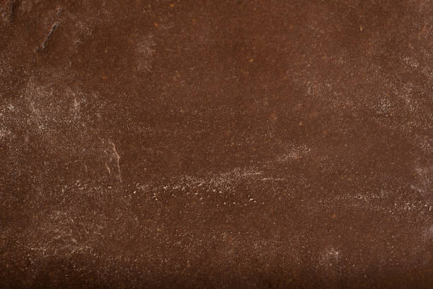 texture of chocolate pastry for cookies. - chocolate imagens e fotografias de stock