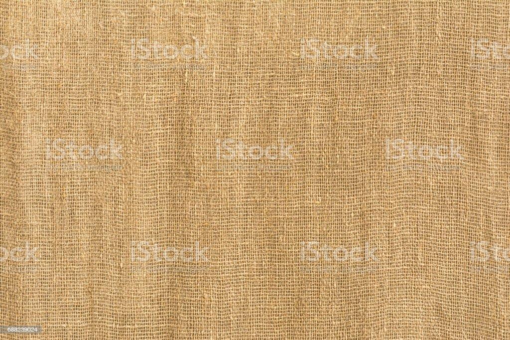 Texture of coarse linen fabric, sackcloth stock photo