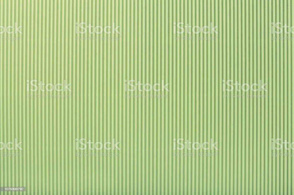 Texture of corrugated light green paper, macro. - Zbiór zdjęć royalty-free (Bez ludzi)