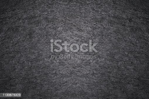 469217930 istock photo Texture of dark gray painted wall. Grunge black stones backdrop. Background ideal for any design 1133875323