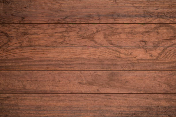texture of dark wood plank can be use for background. - top view, wood table, empty imagens e fotografias de stock