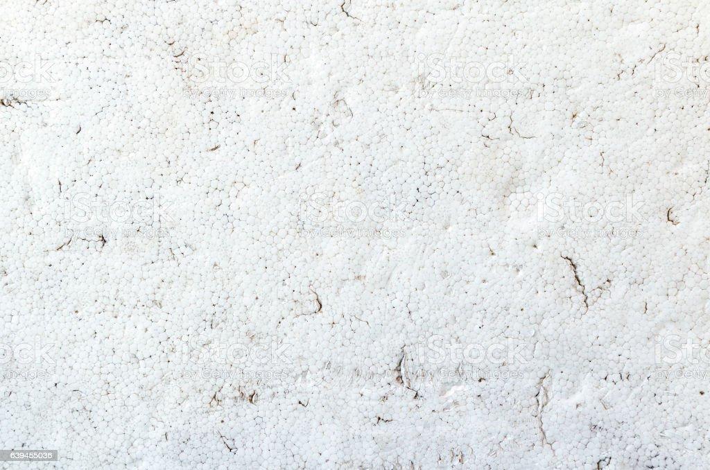Texture of dirty white styrofoam board stock photo